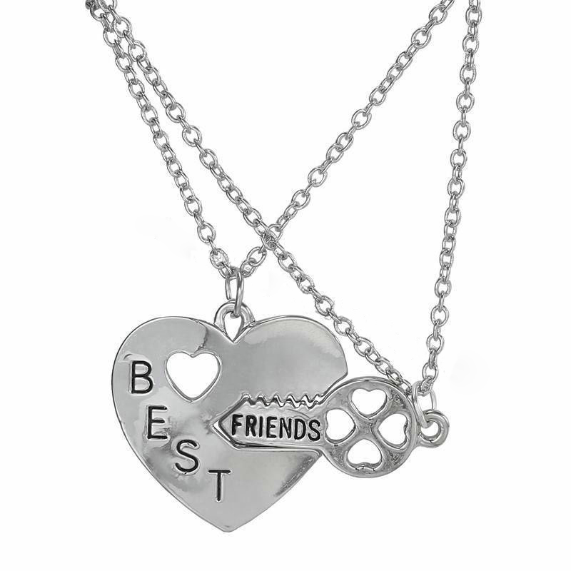 Fashion Women Pendant Necklace Gift Friendship Jewelry Broken Heart Best Friends Art The Castle Presents Gifts Paintings Ceramics Plastic Jewelry Unique Silver Jewelry Original Jewerly Art Paintings Prints Sculpture Handmade
