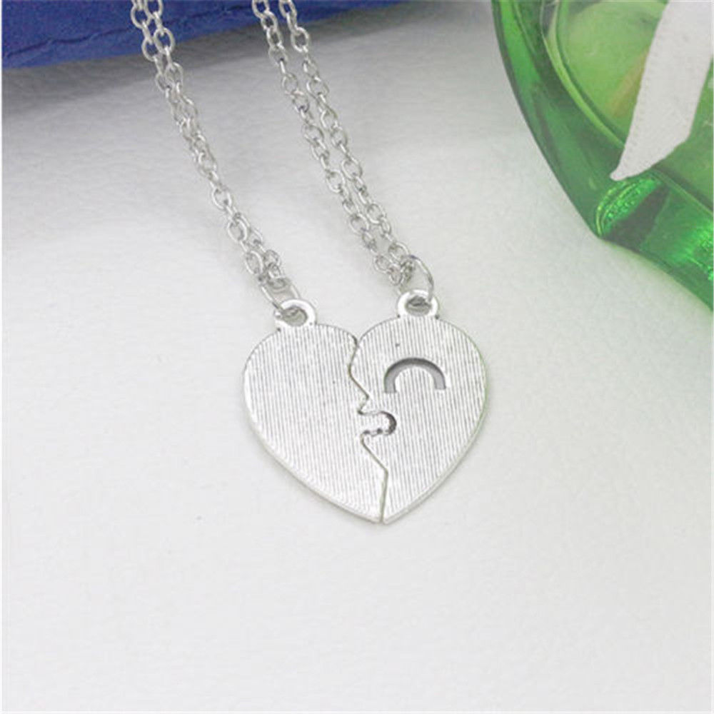 7f7c02f833 ... Romantic Couples Heart Key Pendant Necklace Set for Lovers Valentine  Link Chain ...
