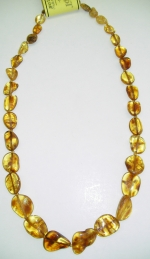 Necklace natural amber