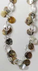 Necklace natural mother of pearl plastic