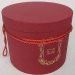Big round red gift box