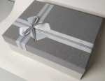 Big rectangular gray gift box