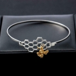 Bracelet Bee honeycomb