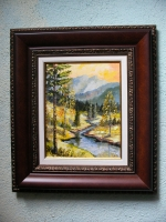 Picture painting Mountain landscape