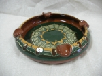 Ceramic ashtray Troyan pattern