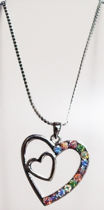 Necklace Colored hearts