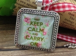 Колие KEEP CALM AND CARRY ON