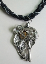 Necklace Medallion Pendant Steampunk The key to the time