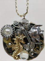 Necklace Medallion Pendant Steampunk