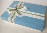 Small rectangular light blue gift box