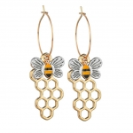 Earrings Bee honeycomb