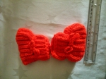 Knitted slippers for children