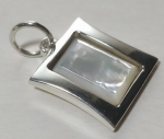Silver pendant medallion Taliika mother of pearl