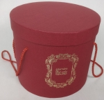 Middle round red gift box