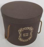 Middle round brown gift box