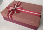 Middle rectangular red gift box