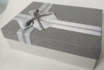 Middle rectangular gray gift box