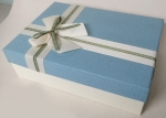 Middle rectangular light blue gift box