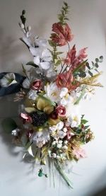 Wedding bouquet for bridal car vacuum of artificial flowers