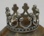Unique handmade silver ring crown
