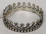 Unique handmade silver ring crown Greatness