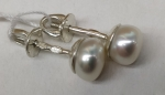 Unique handmade silver earrings cultured pearls Zita