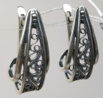 Unique Silver earrings Clementina