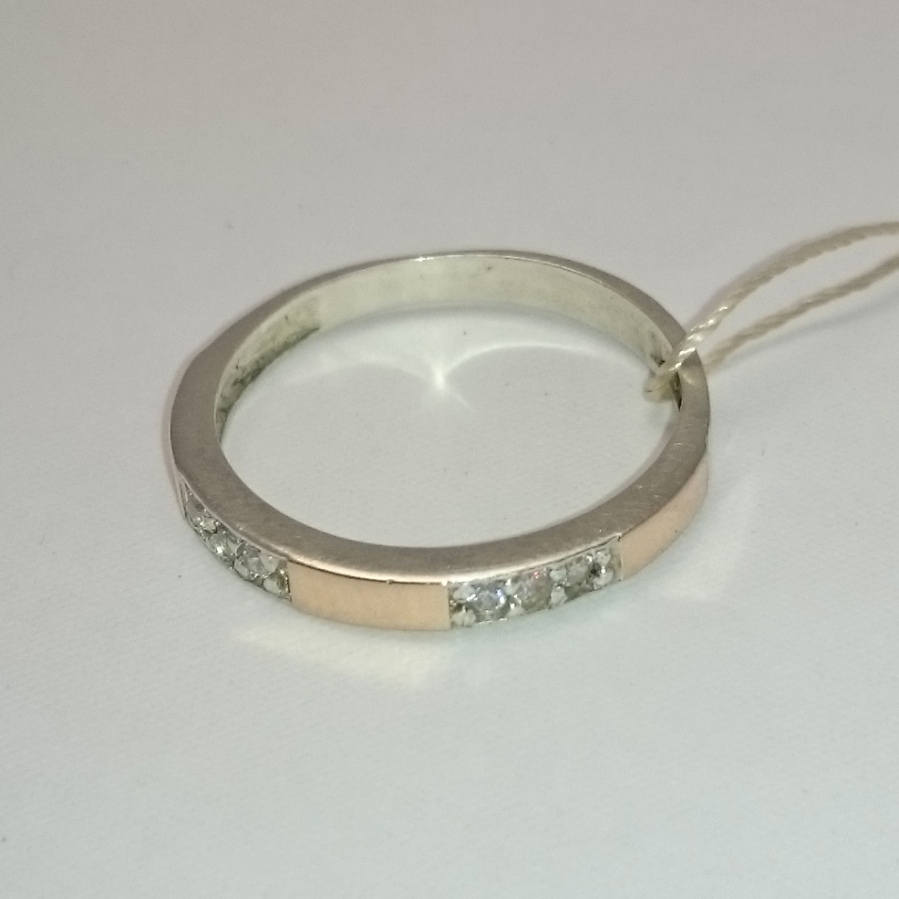 unique handmade ring from silver and gold